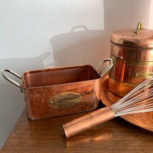 Vintage Kitchen - Vintage | Copper Set Display Tray Canisters Whisk